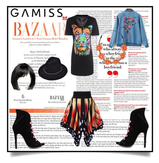 """""""gamiss orange and black for the butterfly effect"""" by caroline-buster-brown ❤ liked on Polyvore featuring Carole and ASOS"""