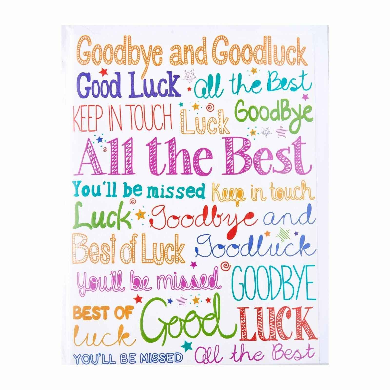 Good Luck Card Inspirational Good Luck Card Goodbye Good Luck Jerusalem House Good Luck Cards Goodbye And Good Luck Good Luck