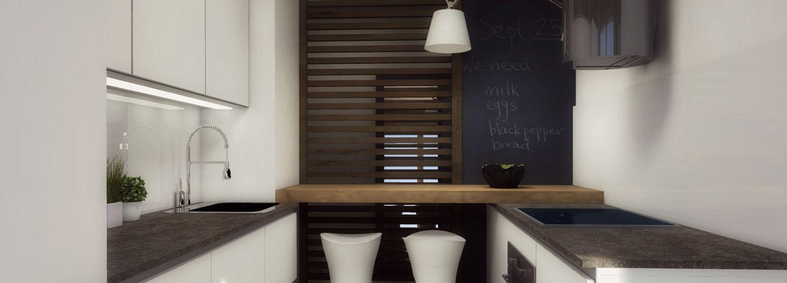 Arredamento cucine piccole: un progetto per meno di 6 mq | Small ...
