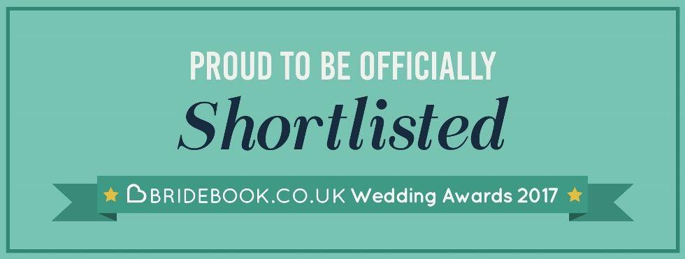 Shortlisted for Bridebook awards 2017