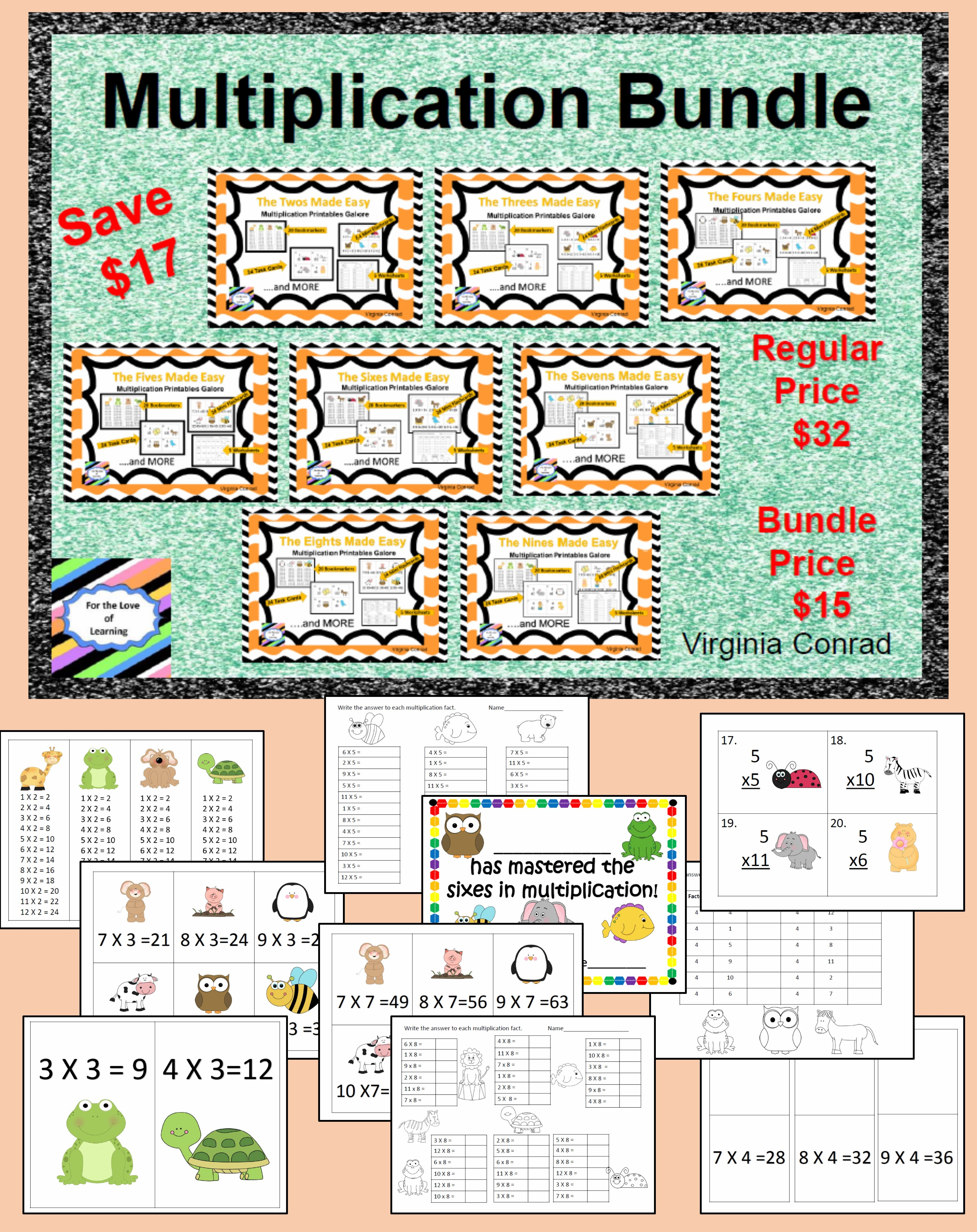 Multiplication Bundle Printables Galore For The Twos