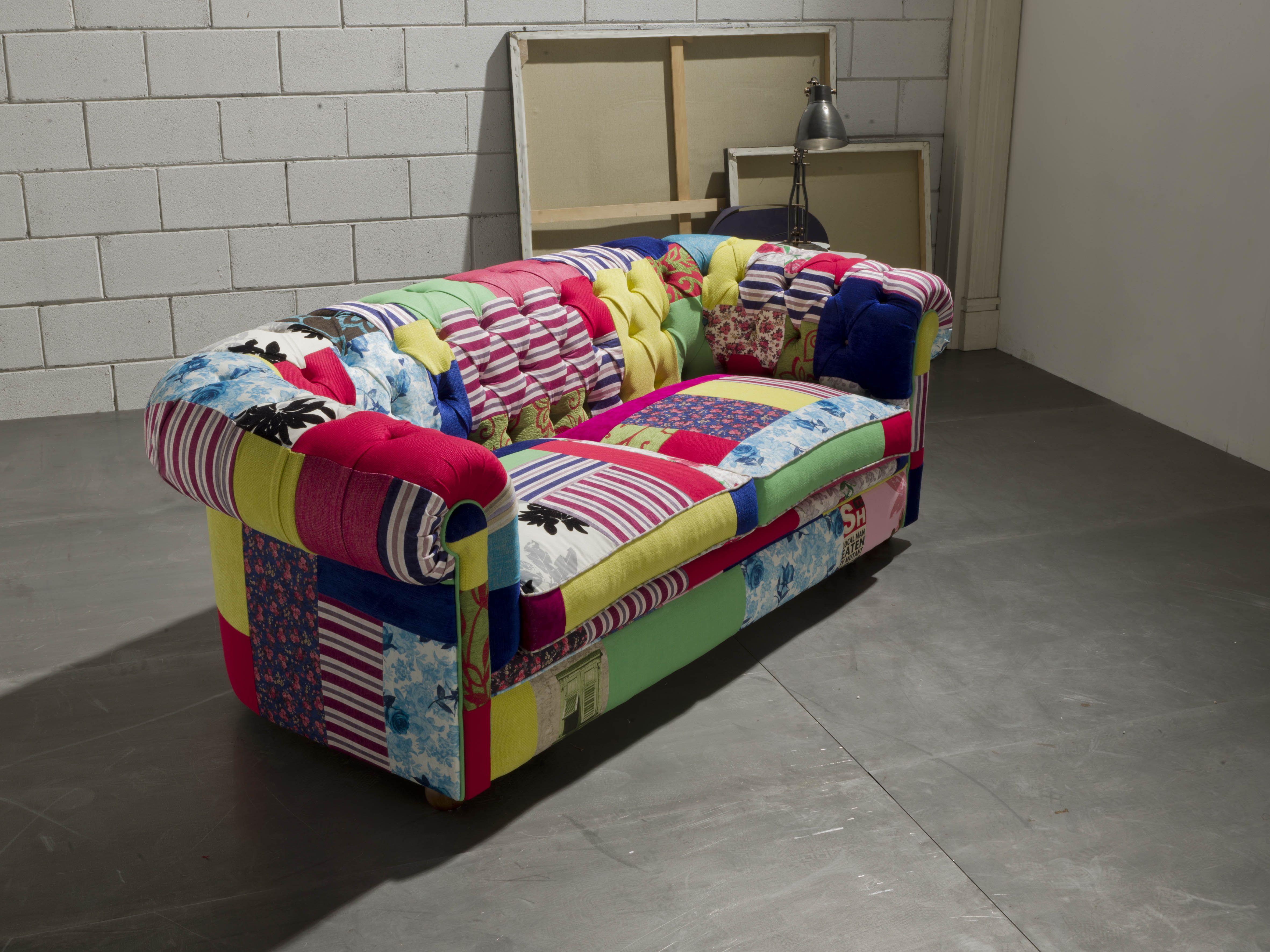Divano Patchwork ~ 8 best chesterfield crazy divani chester in tessuto patchwork