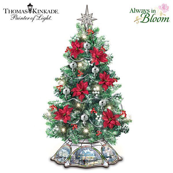 Thomas Kinkade The Warm Glow Of Christmas Tabletop Tree Christmas