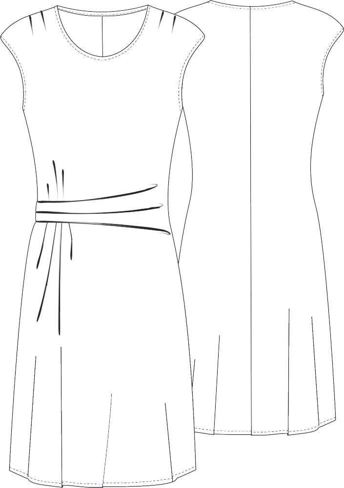 Jerseykleid Martha #mittellangeröcke