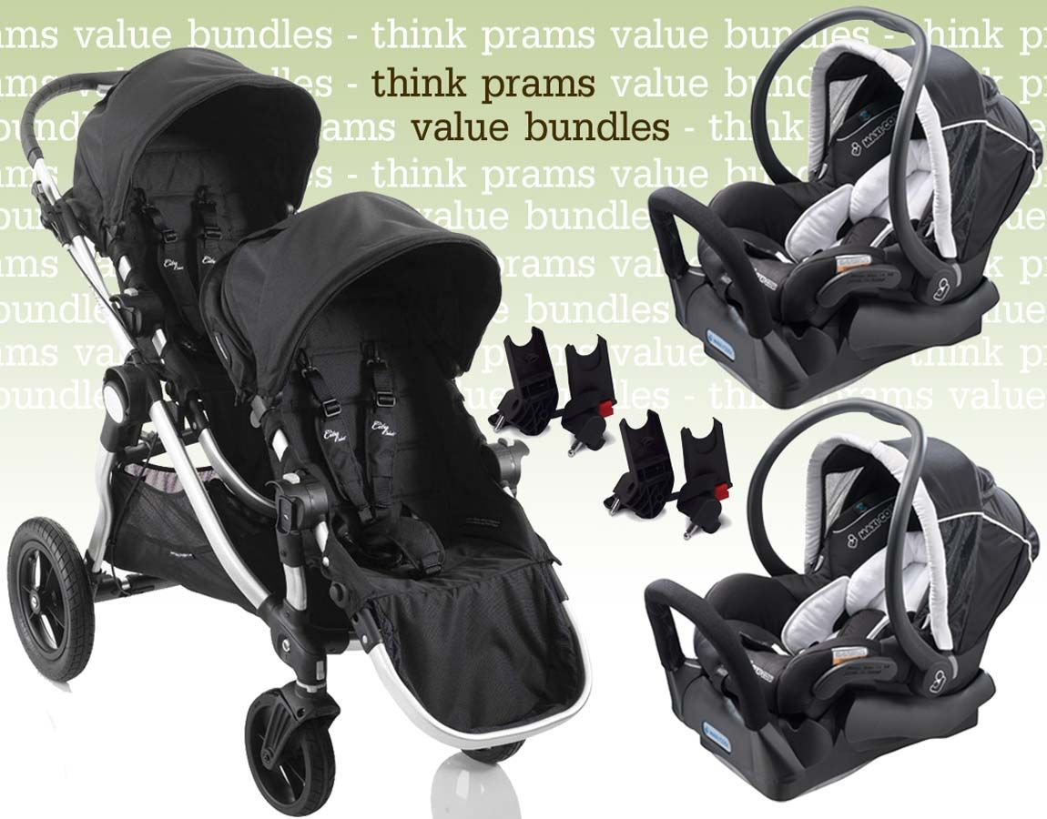 Britax Duo Twin Dolls Buggy Hot Pink Baby Jogger City Select Maxi Cosi Capsules Bundle Buy