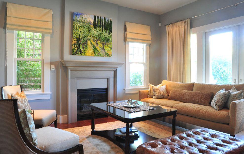 Devastating Dark Gray Roman Shade Curtains Decorative Pillows Double Hung Windows D Classic Living Room Design Curtains Living Room Curtains Living Room Modern #roman #shades #for #living #room #windows