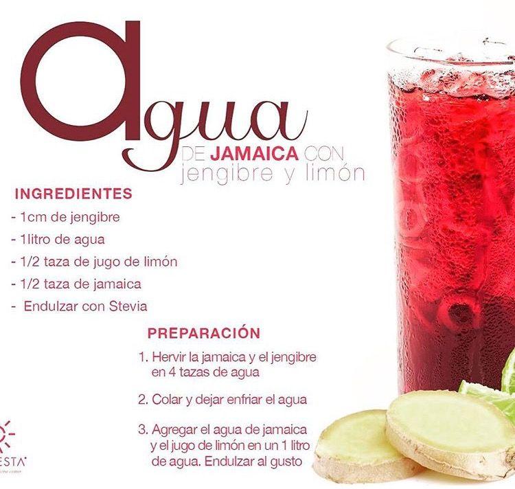 Agua De Jamaica Con Jengibre Agua De Jamaica Para Adelgazar