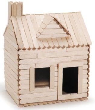 Popsicle stick log cabin google search current for Stick built home kits