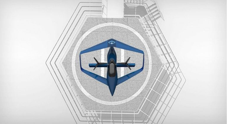 The Elytron 2S's Prandtl's box wing design sees the tips of the fore and aft wings linked ...