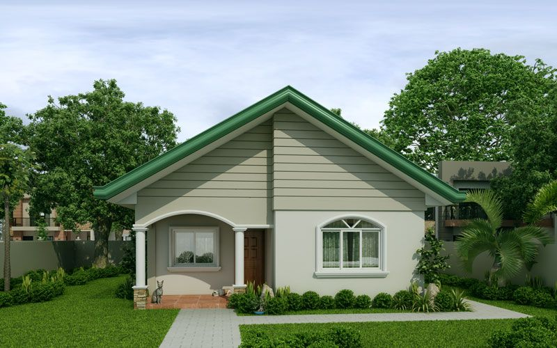Mariedith 2 Bedroom Contemporary House Plan Simple House Design Modern Bungalow House Modern Bungalow House Plans