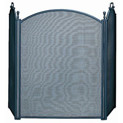 Uniflame 3 Fold Fireplace Screen w/ Woven Mesh