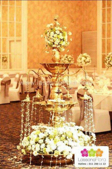 Sri Lankan Oil Lamp Wedding Decor Lassana Flora Jasmine Hydrangea And Mums Wedding Decorations Wedding Deco Wedding