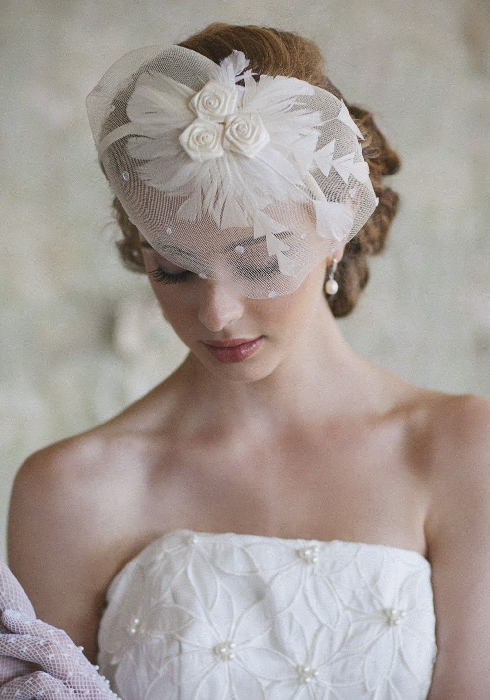 singular destiny ivory headband | wedding hair accessories