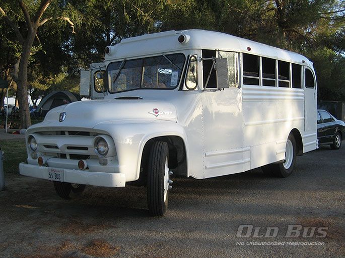 1955 Ford Gillig Body Old School Bus Nice Bus Bus Coach