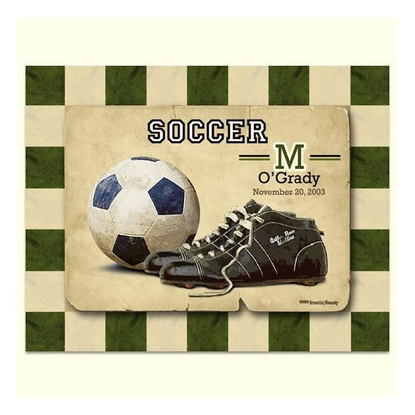 kids vintage sports room | Personalized Vintage Soccer Print ...