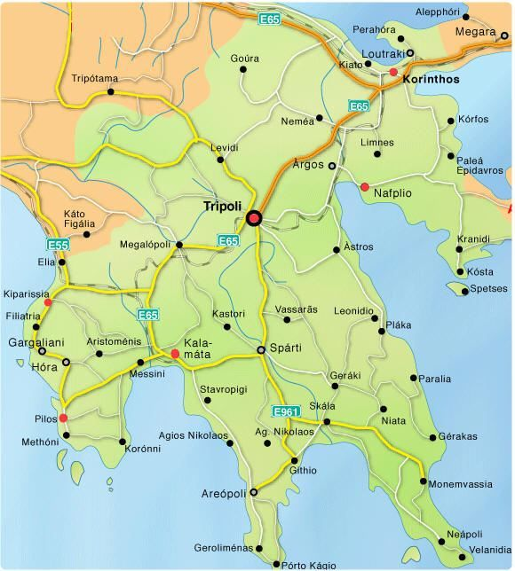 Albania Cartina Stradale.Cartina Stradale Peloponneso Viaggi Grecia Viaggi Luoghi Da Visitare