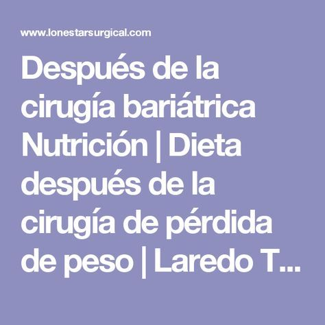 Pin En Dieta Bariatrica