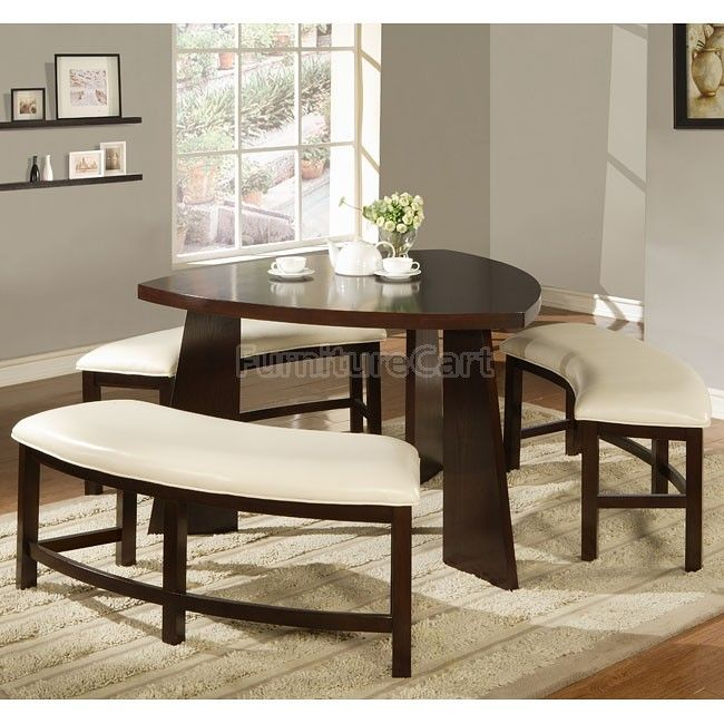 Friendship Circle Triangle Dinette Dining Table With Bench Dining Room Sets Dining Room Small