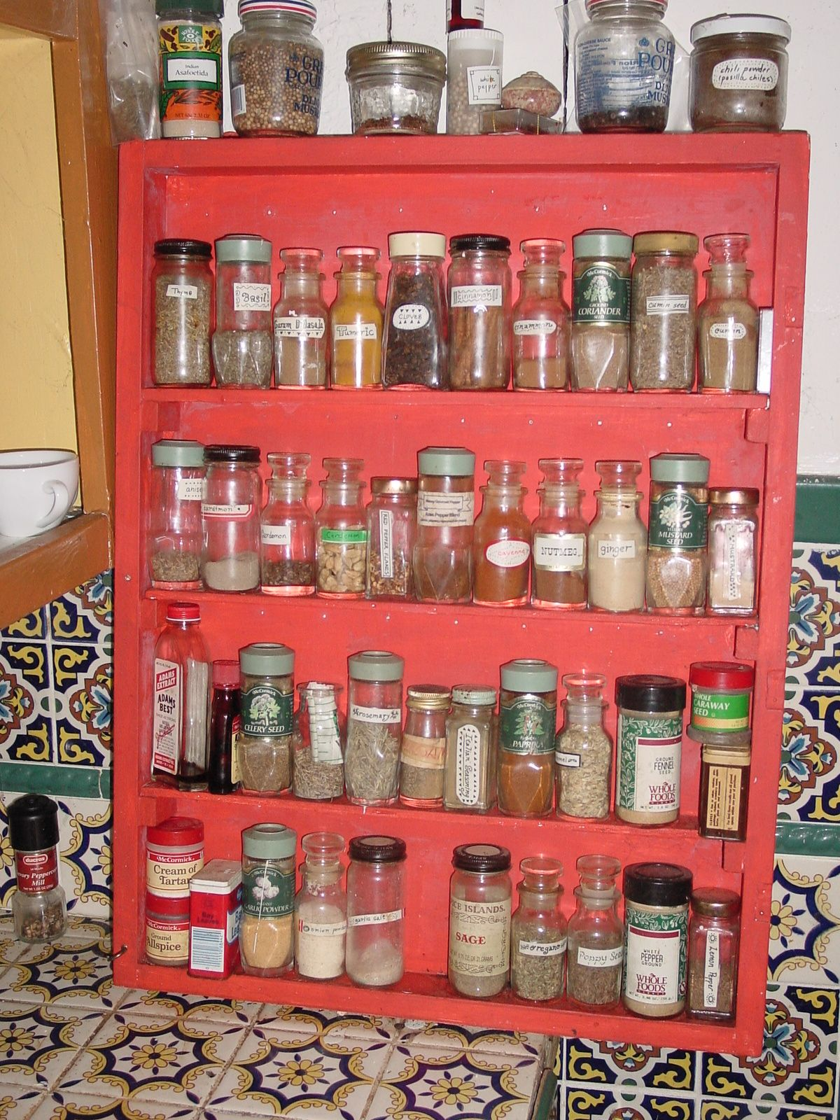 Old Fashioned Spice Rack Idea Clever Ideas Spice Rack