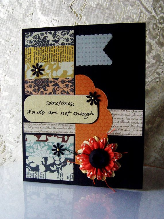Thank you card, Thinking of you, Sympathy card, Encouragement card - money order form