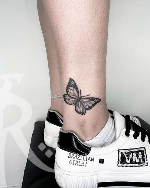 61 Pretty Butterfly Tattoo Designs And Placement Ideas Stayglam Butterfly Tattoo Designs Butterfly Tattoo Butterfly Ankle Tattoos