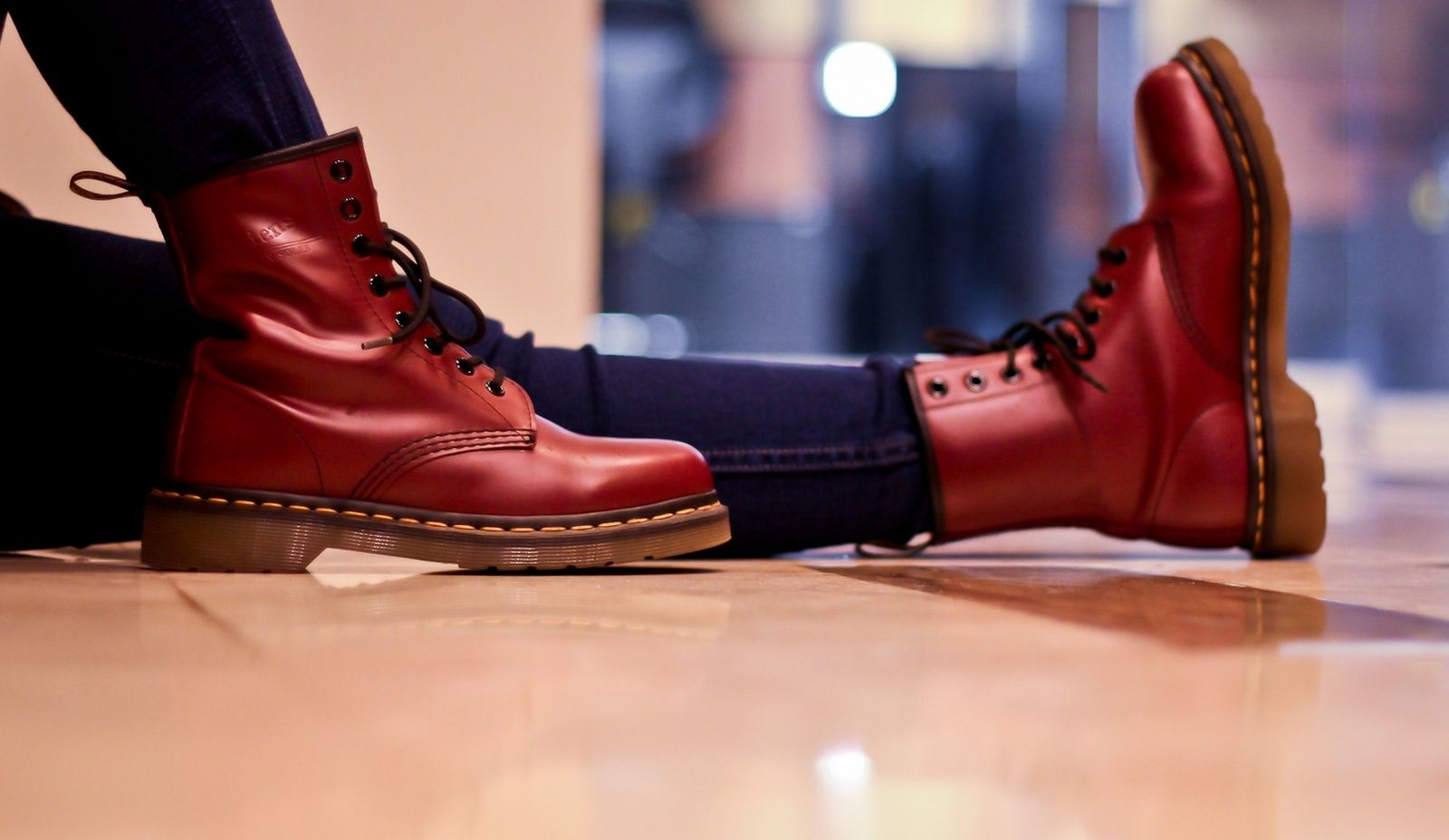 Dr. Martens 1460 Cherry Reds. Thanks to Ellen from the Philippines for  sharing this