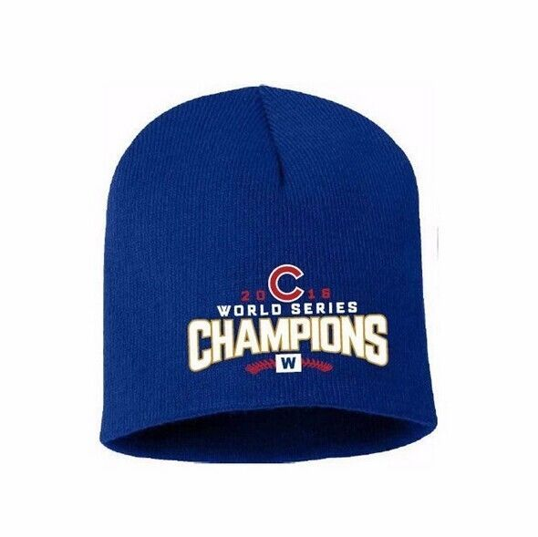 421452f65418c ... purchase chicago cubs 2016 world series champions knit beanie hat with  embroidered logo u chicagocubshats casual