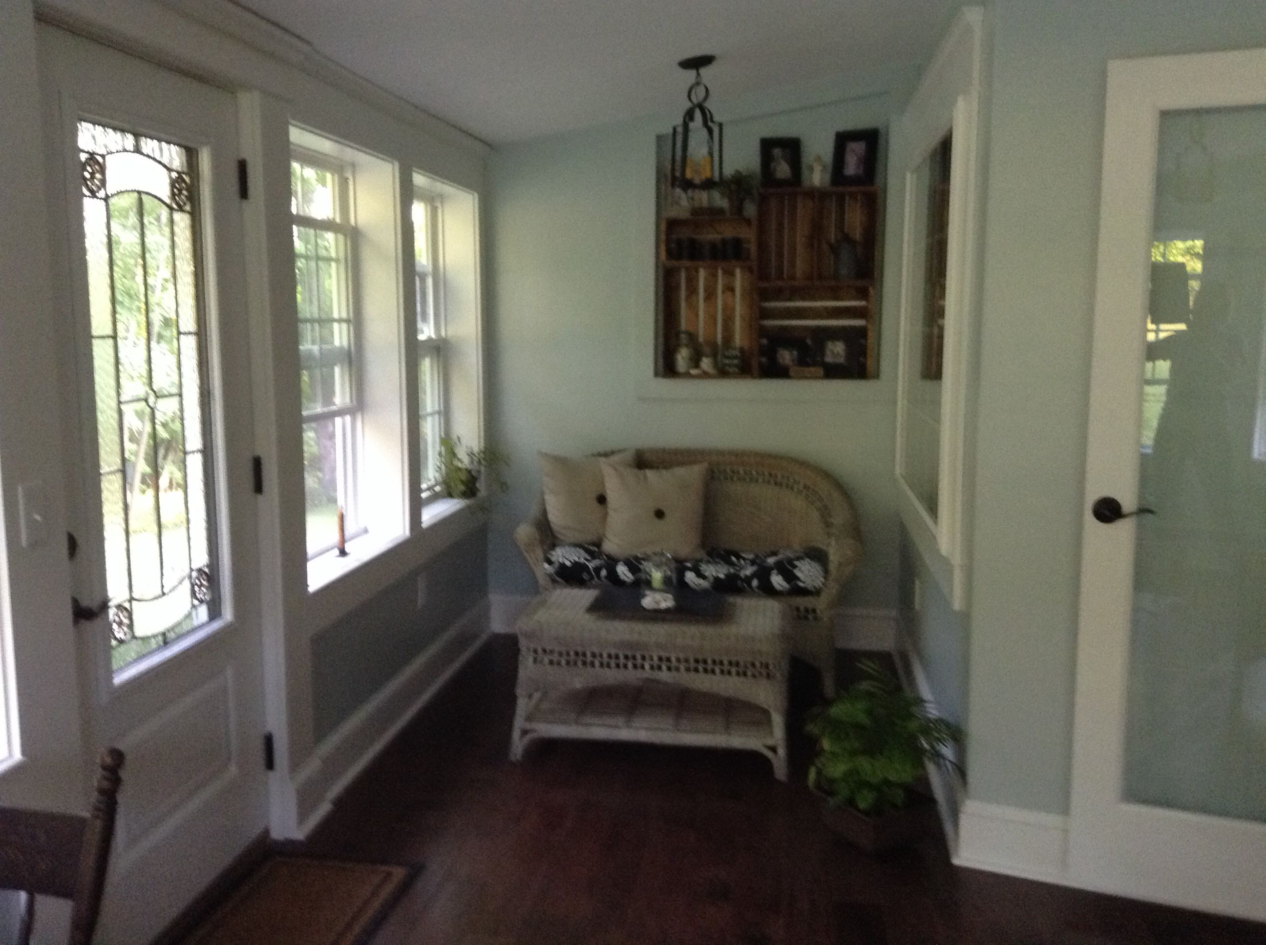 Other Wall Of Our Enclosed Sunporch Paint Color Is Woodlawn