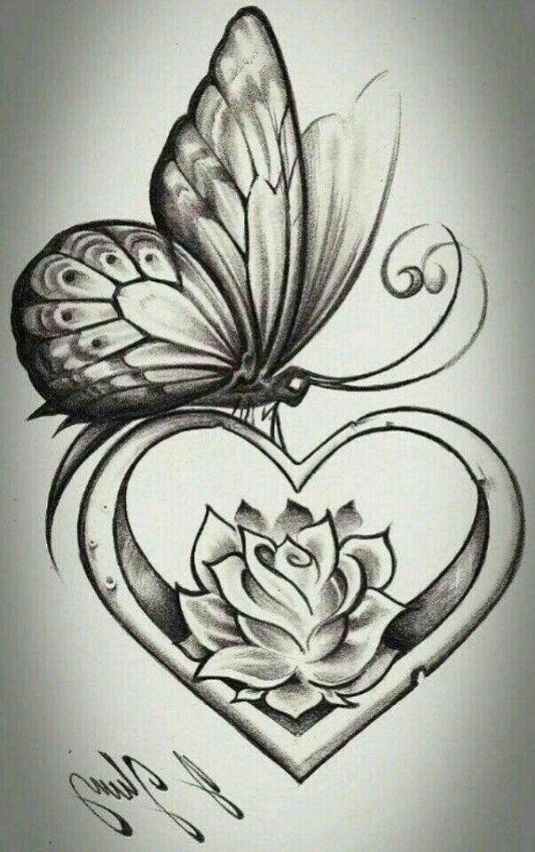Pin by Esta Lippiatt on Tattoo ideas | Rose and butterfly tattoo, Butterfly tattoo designs, Tattoos