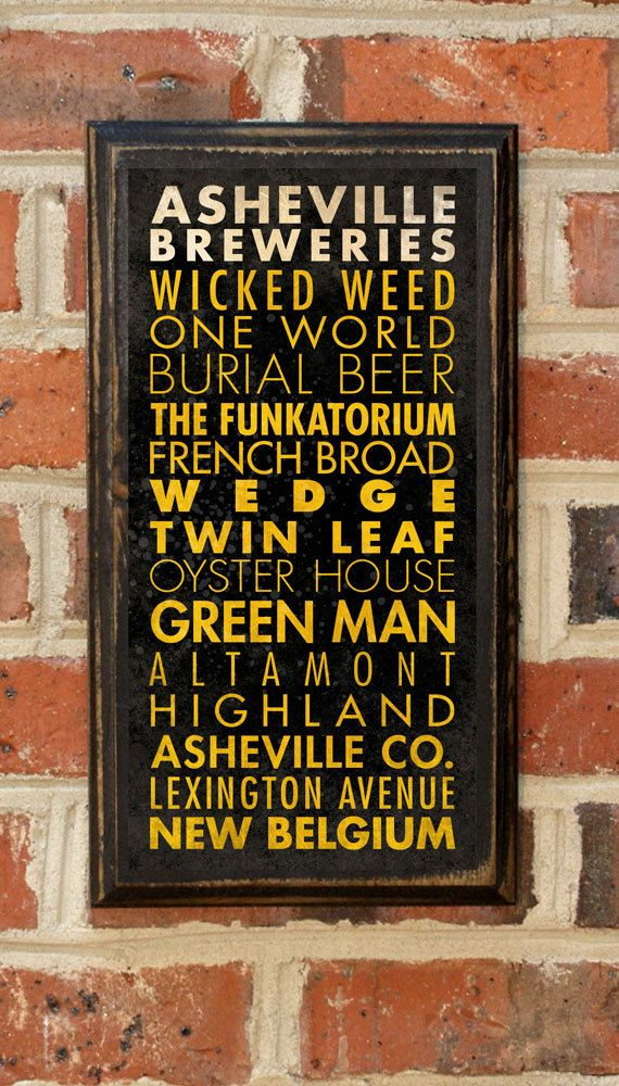 Craft Breweries of Asheville NC Antique Subway by CrestField