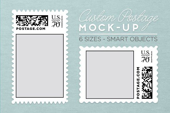 Custom Postage Stamp Template by ChattyPress on @creativemarket - stamp template