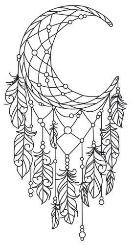 Atrapasueno Luna Atrapasuenos Dibujo Libro De Colores Y