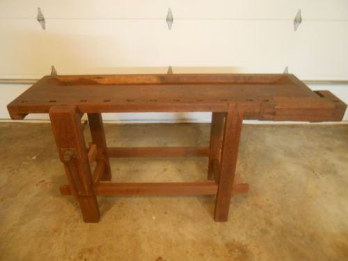 Peachy Antique Walnut Woodworkers Workbench Carpenters Vintage Caraccident5 Cool Chair Designs And Ideas Caraccident5Info