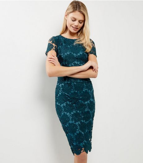 a1ae017e1f4 AX Paris Blue Crochet Lace Cap Sleeve Midi Dress