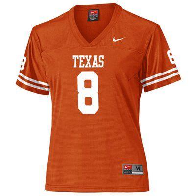 best website f407a 7cd31 Nike Texas Longhorns #8 Women's Replica Football Jersey ...
