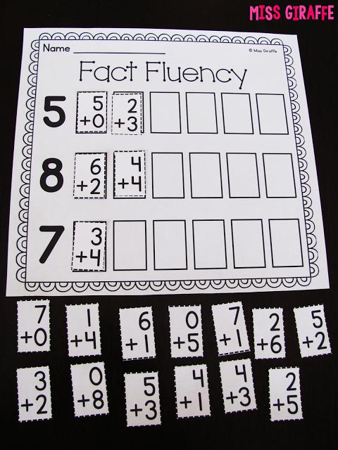 Miss Giraffe\'s Class: Fact Fluency in First Grade   Pre-K - K: Ideas ...