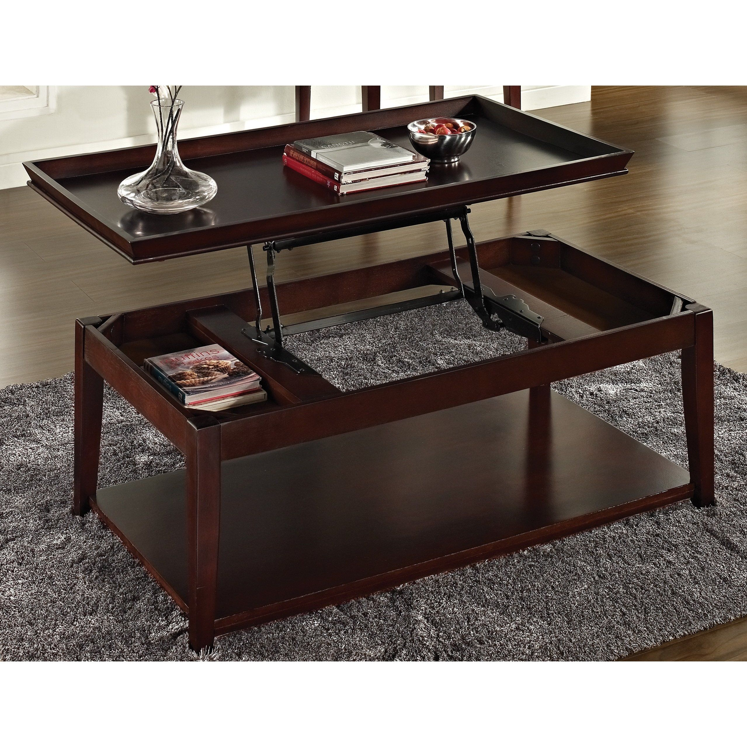 Carmine Lift Top Coffee Table With Casters By Greyson Living