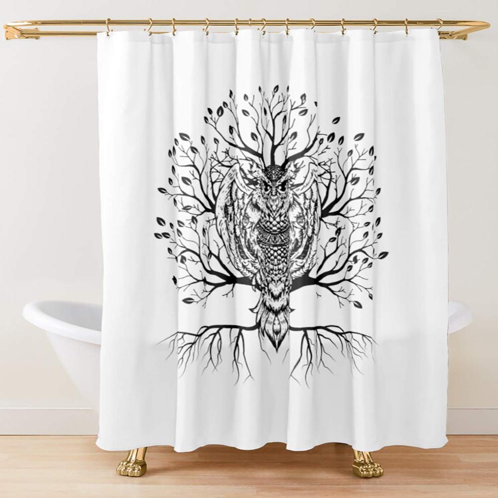 Amazon Com Zussun Shower Curtain Set Bathroom Fabric Fall