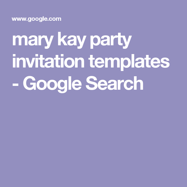 mary kay party invitation templates Google Search – Mary Kay Party Invitation