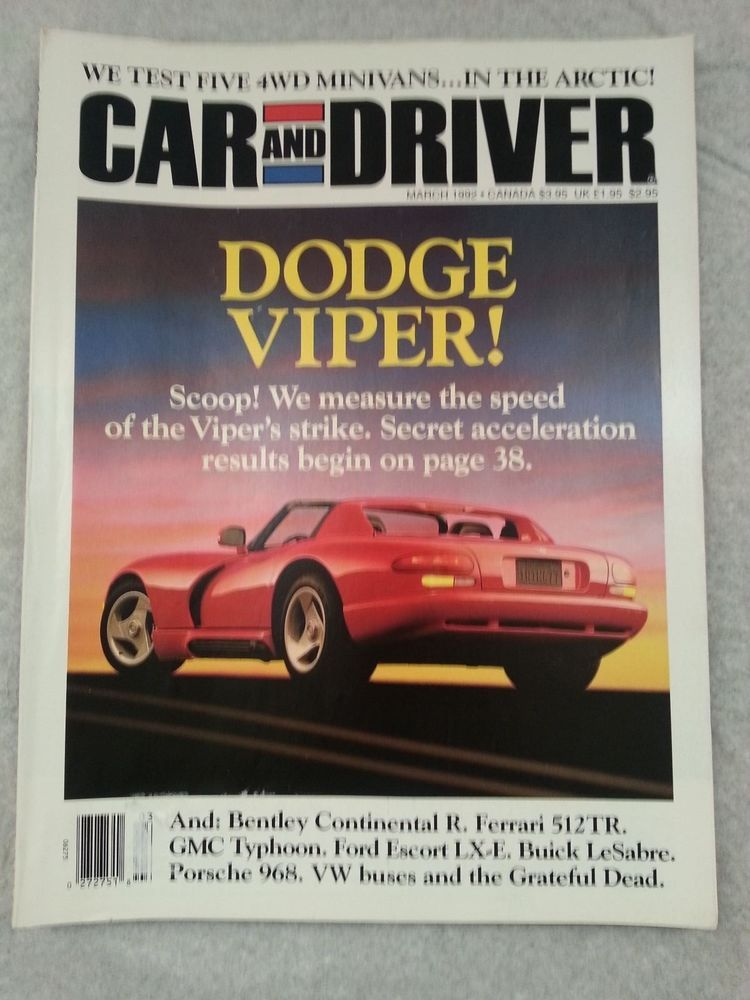 Car And Driver March 1992