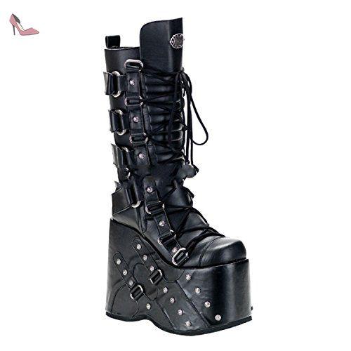 Demonia Stack-318 - gothique Industrial punk mega plateau bottes chaussures  unisex 36-46