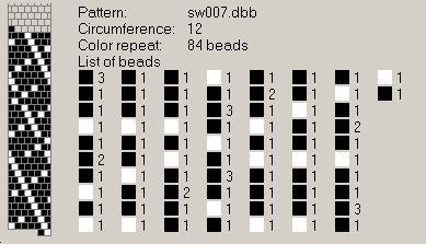 БИСЕР СХЕМЫ, для вязания крючком на леске,  Как читать схемы в правом верхнем углу – это указание, на скольких бусинах жгут. Цифра 32 – количество бусин в раппорте. Набираем бусины: квадрат означает цвет, цифра- кол-во бусин