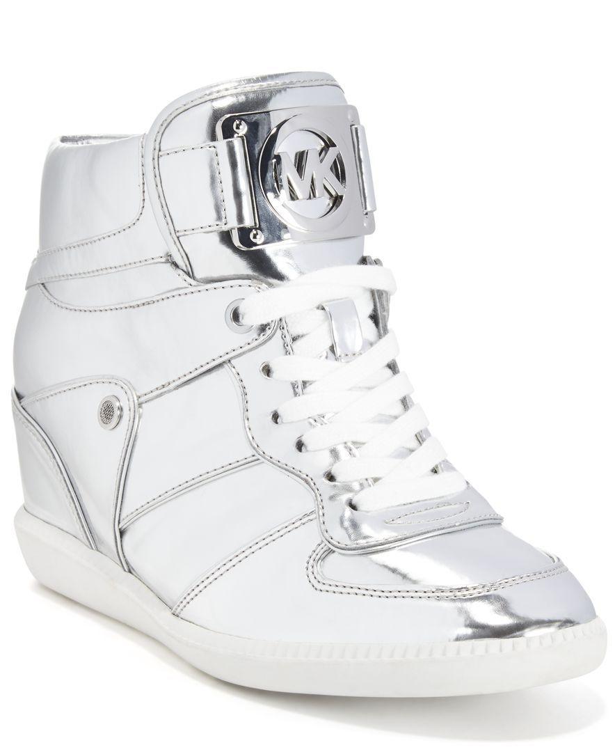michael kors high heel sneakers