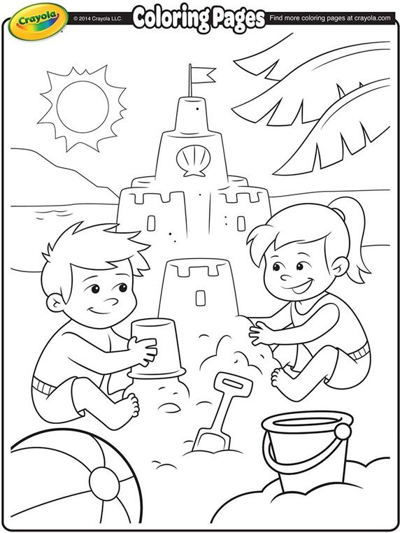 coloring pages summer - Crayola Coloring Pages For Kids Printable