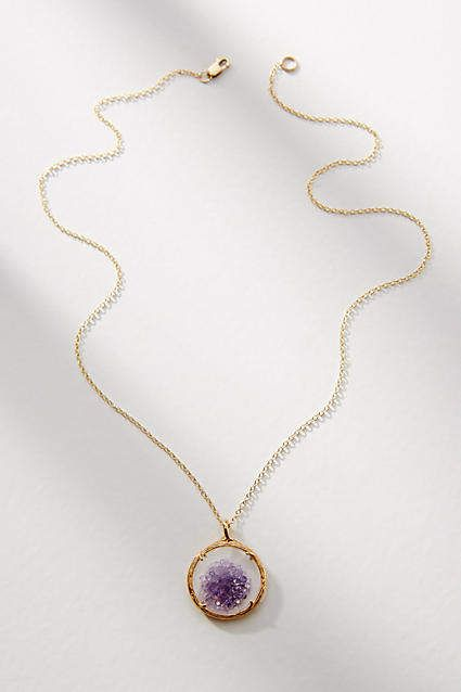 Catherine Weitzman Shaker Birthstone Pendant Necklace, November
