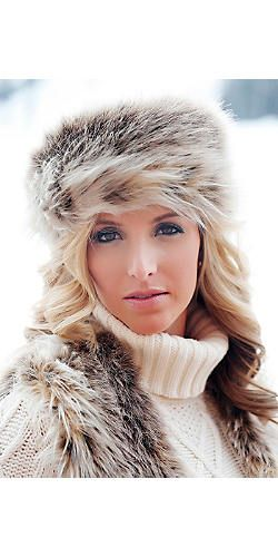 e4670e40bc992 Russian Lynx Faux Fur Russian-Style Hat   Fabulous-Furs   Products I ...