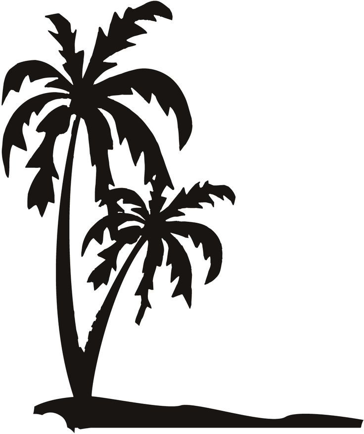 pin by misty frederickson on silhouette cameo designs pinterest rh pinterest com Sunset Palm Tree Clip Art Palm Tree Coloring Pages