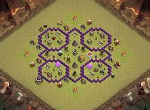 War Base Th 7 Clash Of Clans Base Layout Clash Of Clans War Layout
