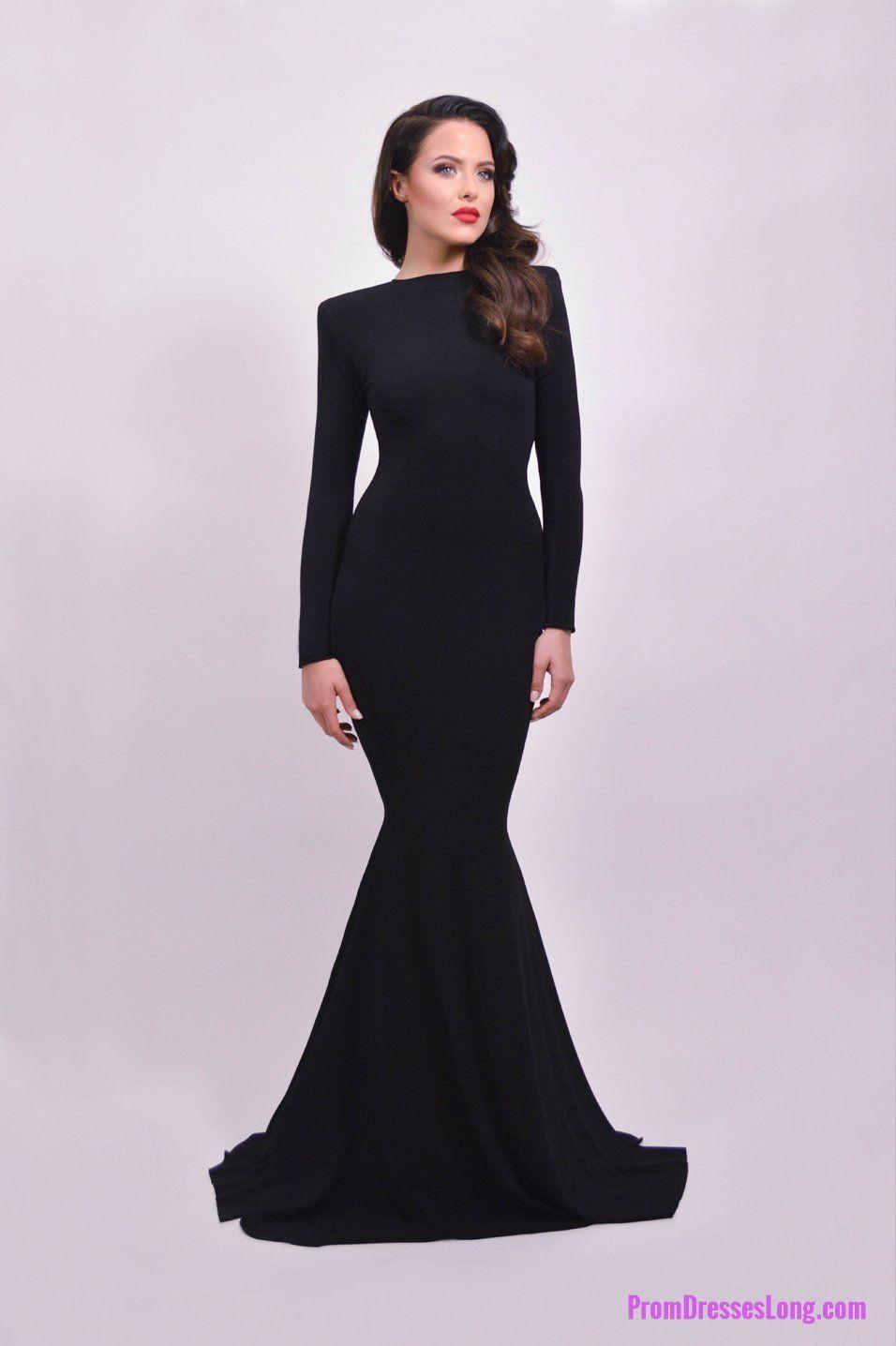 Black prom dressmermaid prom dresssimple prom gownbackless prom