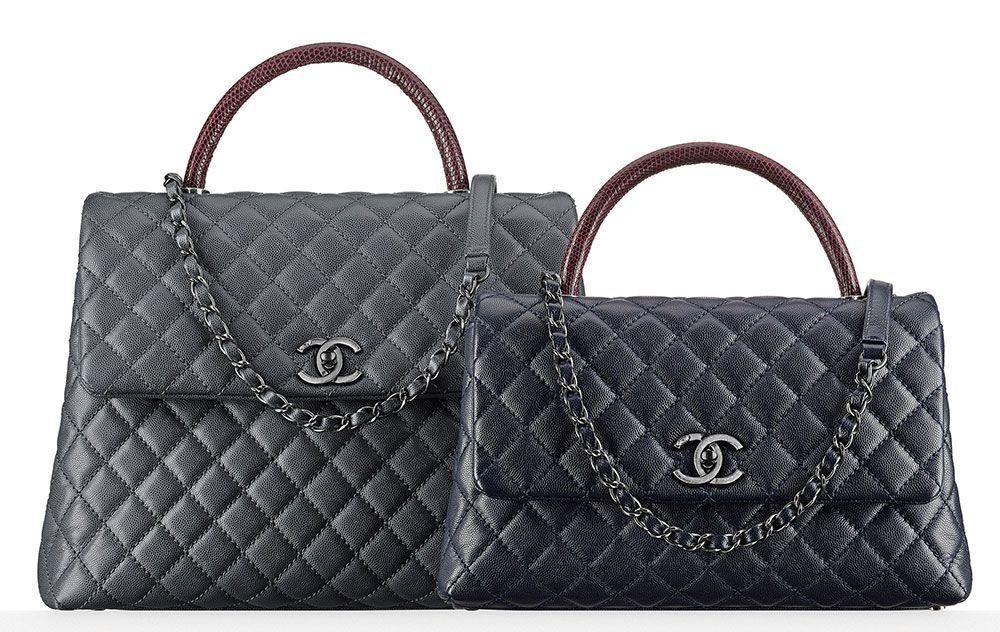 68ea930292c1 Chanel Lizard Handle Flap Satchels  4